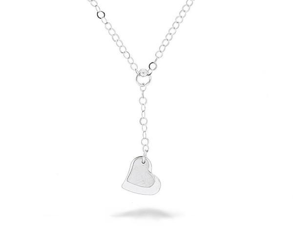 Halskette in 925´er mit zwei Herzen