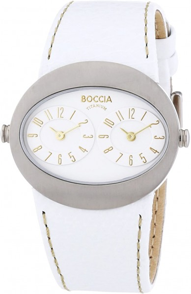 Boccia Titanium Damenuhr 3211-01 mit 2 Uhrwerken