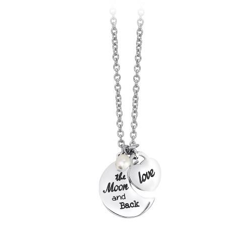 Halskette mit Anhänger Mond