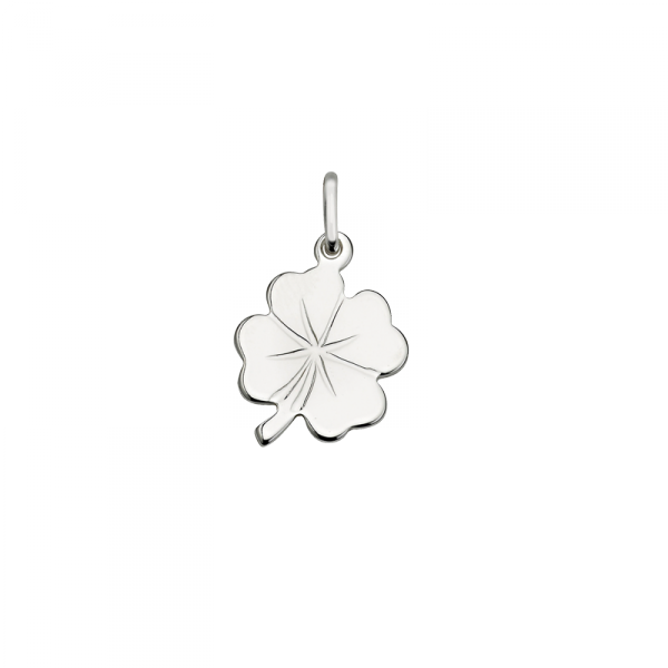 taufnhänger in 925´er Sterling Silber im Kleeblatt Motiv