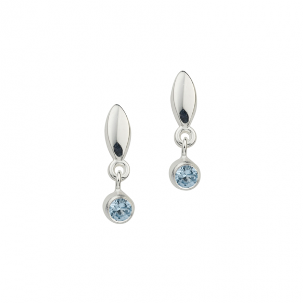 Ohrstecker in 925´er Sterling Silber mit blauen Steinen