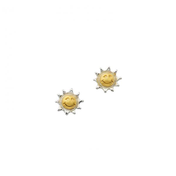 Ohrstecker in 925´er Sterling Silber mit Sonnen Design