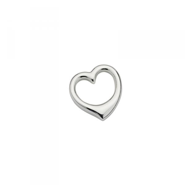 Taufanhänger in 925´er Sterling Silber mir einem Kernlosem Herz