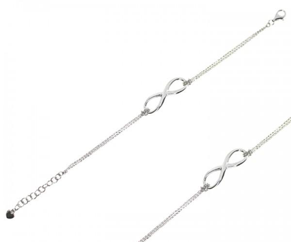 Damen Armband in 925´er Silber mit Infinity Anhänger