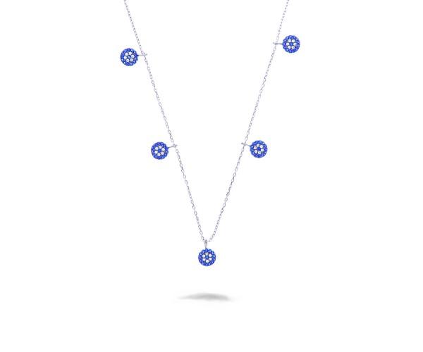 925`er Silber Halskette mit Anhängern