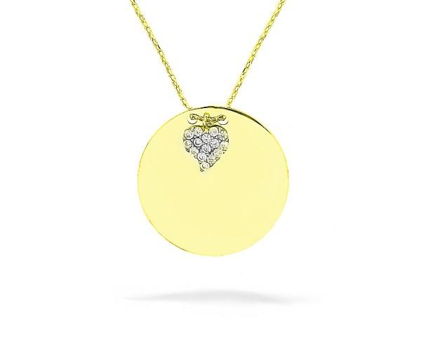 Halskette mit Gravurplatte Anhänger 925'er Silber vergoldet