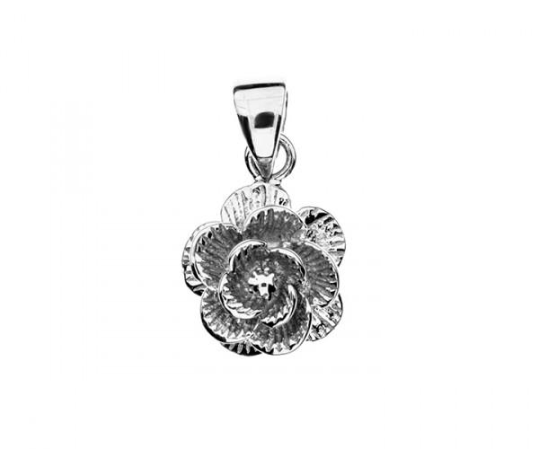 Blumenanhänger Silber