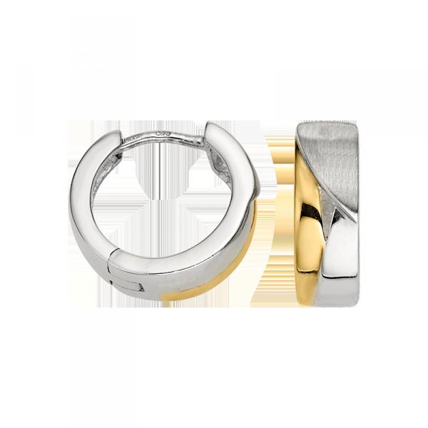 Creole in 925´er Sterling Silber mit goldener und silbener Farbe