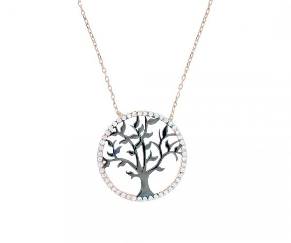 Halskette mit Anhänger Baum des Lebens 50137