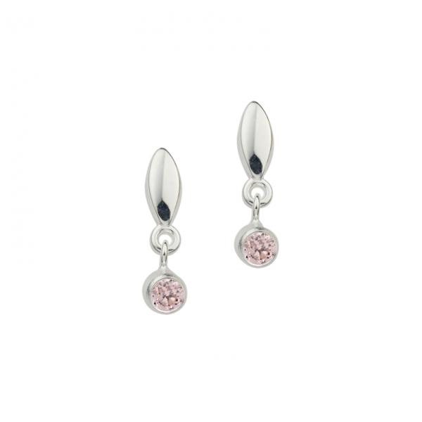 Ohrstecker in 925´er Sterling Silber mit rosa Zirkonia Steinen