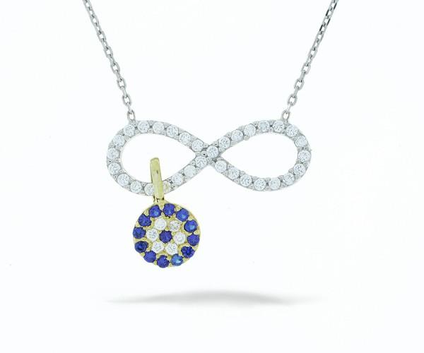 Halskette infinity mit Nazar Armulett