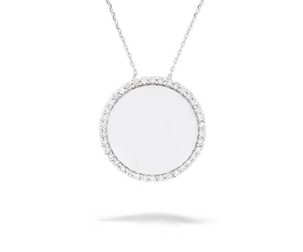 Halskette mit Zirkonia Steinen 925'er Silber