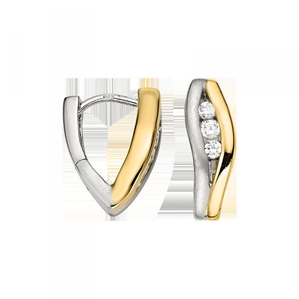 Creole in 925´er Sterling Silber ind den Farben gold und silber