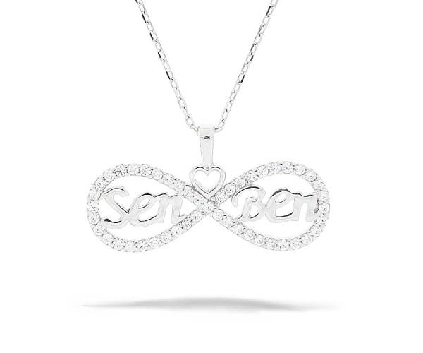 Halskette mit Anhänger Unendlich 'Sen/Ben' 925'er Silber