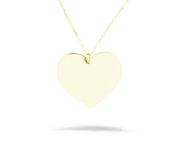 Halskette mit Anhänger in Herz-Form vergoldet 925'er Silber