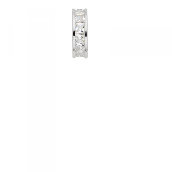 Taufanhänger in 925´er Sterling Silber in Edler Ring Form mit Zirkonia Steinen