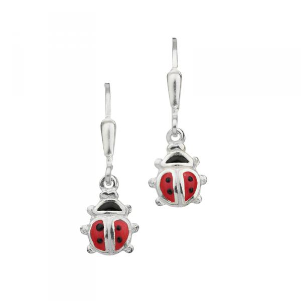Ohrhänger in 925´er Sterling Silber mit schönen Marienkäfern CEM