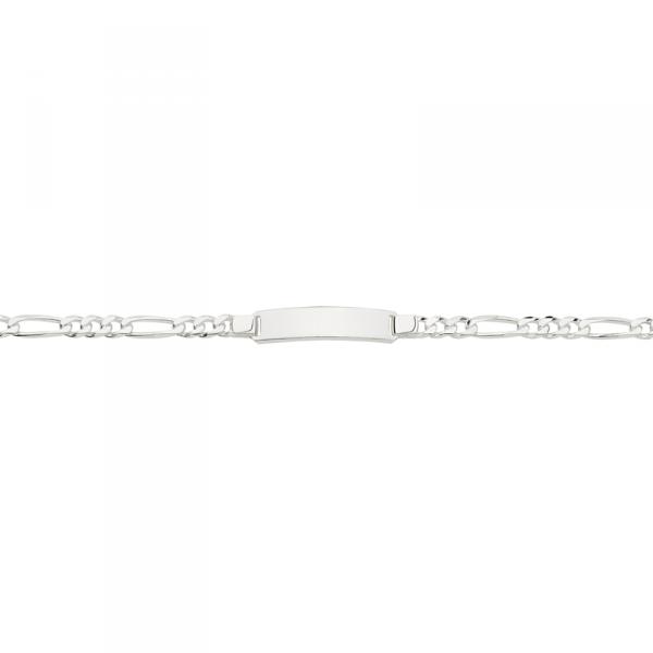 ID Armband in 925´er Sterling Silber mit großer Gravurplatte und Zwischenöse