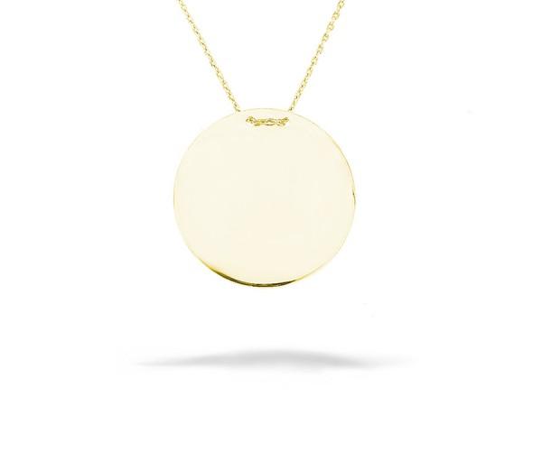 Halskette Gravurplatte gold