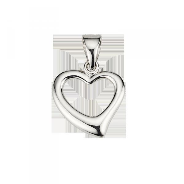 Herzanhänger in 925 er Sterling Silber mit leerem Kern