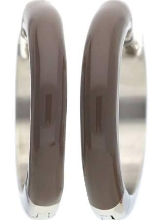 ESPRIT Damen Ohrringe Creole Edelstahl gold Fancy beige ESCO11657A000