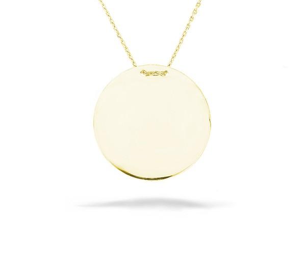 Halskette in 925´er Gravurplatte gold