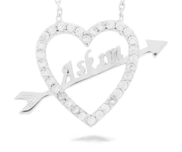 Herzanhänger in Silber