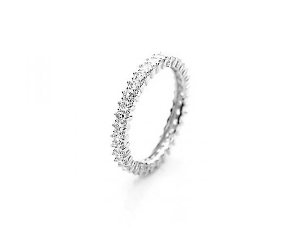 Wunderschöner Silberring mit Zirkoniasteinen 10042