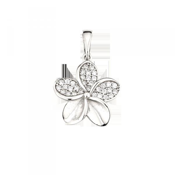 Anhänger in 925 er Sterling Silber in wundervoller Blumen Form
