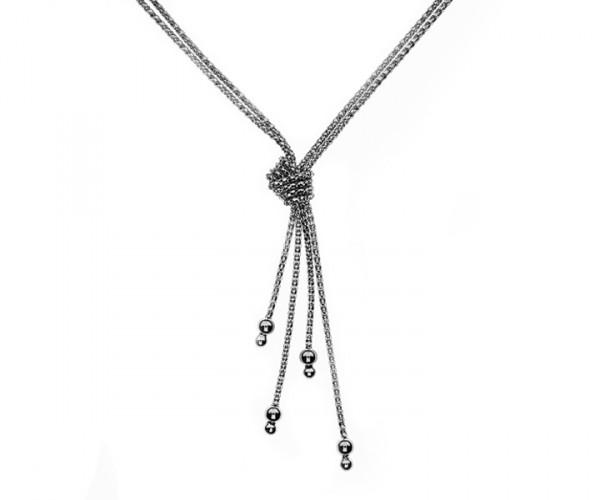 Schlangenkette mit Schleife 42 cm 925`er Sterling Silber