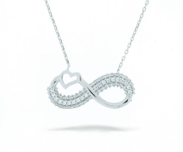 Halskette infinity mit Herz