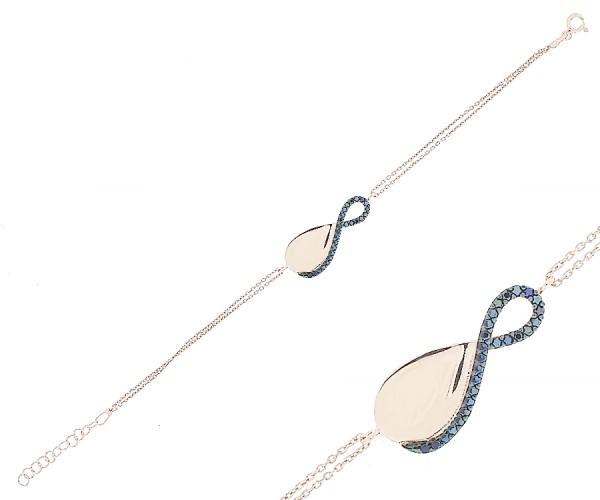 Damenarmband Infinity in Rosé mit Gravur