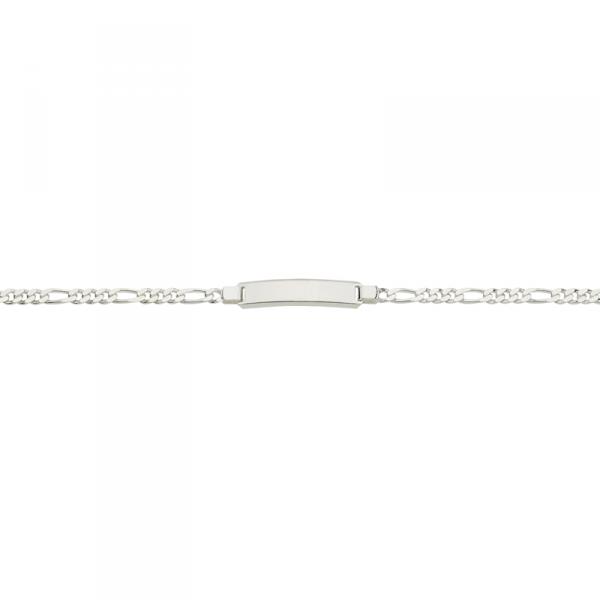 ID Armband in 925´er Sterling Silber in einem glänzenden Design mit Zwischenöse