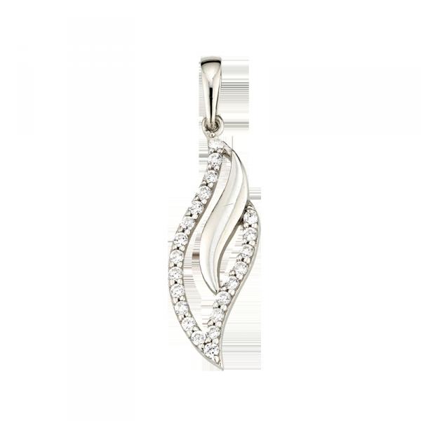 925 er Silberanhänger in Blattform