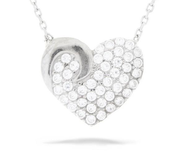 Halskette in 925´er Herz mit Stein