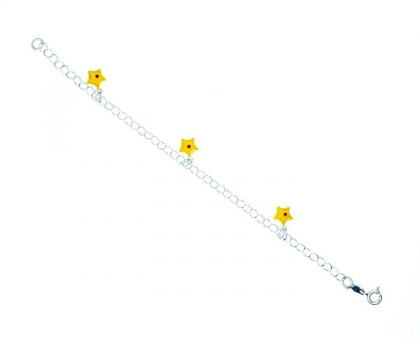 Armband Ankerkette mit Sternen 16 cm