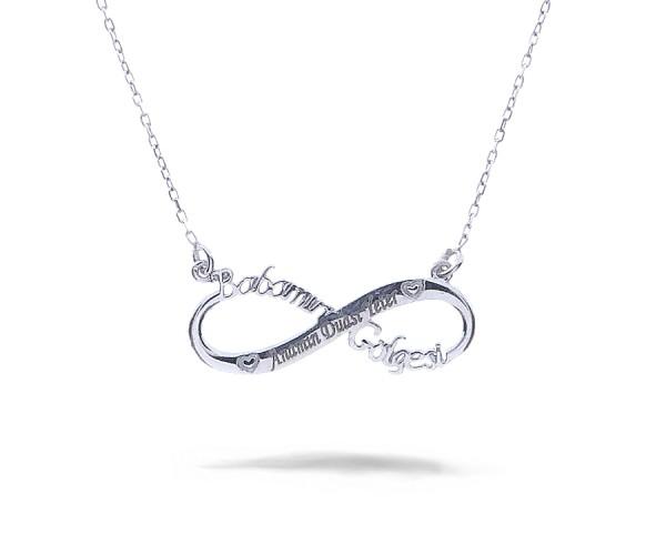 Unendlich Halskette mit Anhänger 925'er Silber