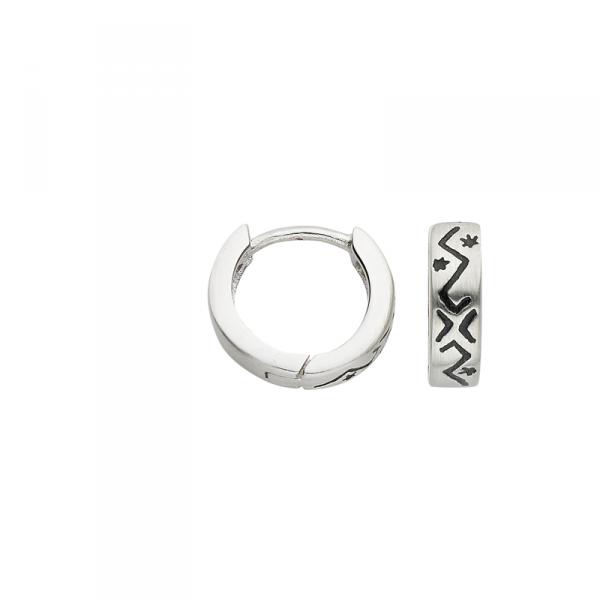 Creole in 925´er Sterling Silber mit schönen Mustern