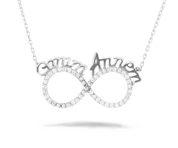 Infinity Unendlich Halskette 925'er Silber