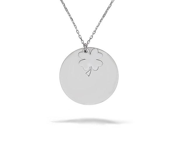 Halskette mit Gravurplatte Anhänger 925'er Silber