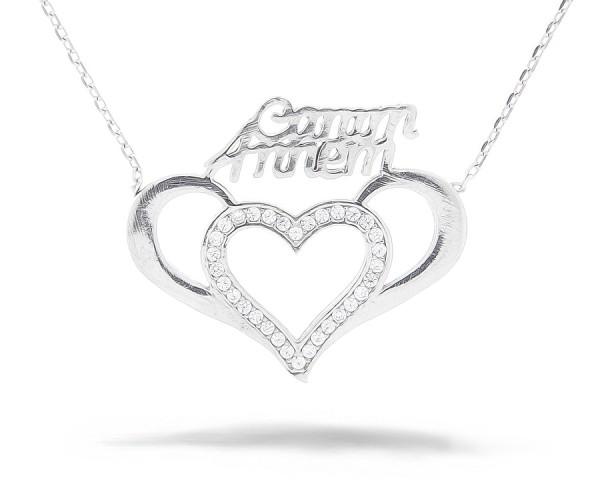 Herz Canim Annem Halskette 925'er Silber