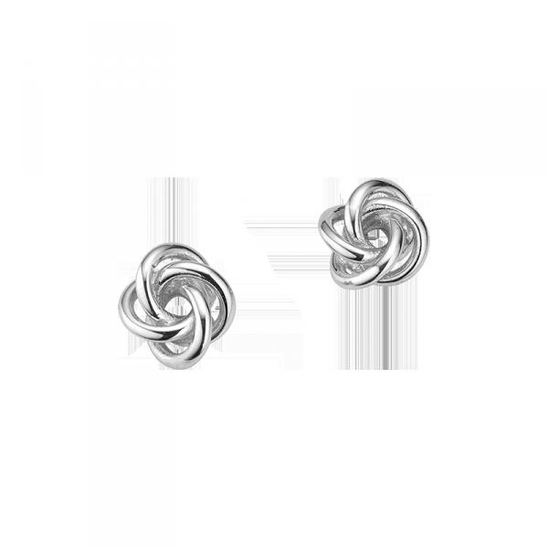 Ohrstecker in 925´er Sterling Silber mit einem ausgefallenem Knoten Design