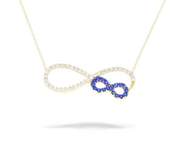 Halskette Infinity in 585er Gold