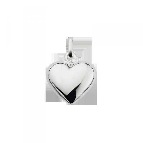 Taufanhänger in 925´er Sterling Silber in feiner Herz Form