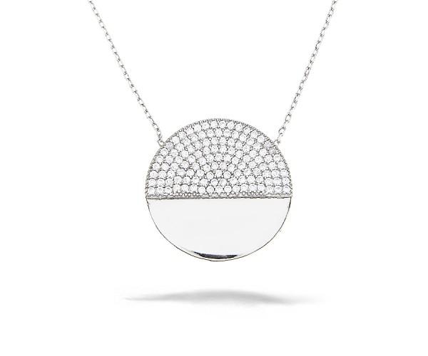 Halskette mit Anhänger Dreieck 925'er Silber