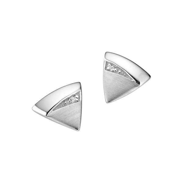 Ohrstecker in 925´er Sterling Silber in glantzpoliert und längstmattiert