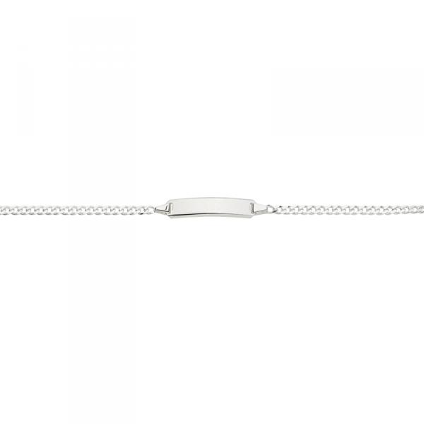 ID Armband in 925´er Sterling Silber mit Panzerkette und Zwischenöse