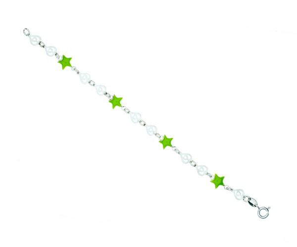 Kinderarmband Herz Stern 14 cm