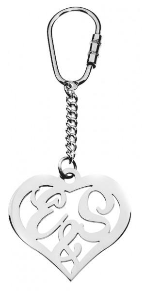 Herz Schlüsselanhänger mit Initialen