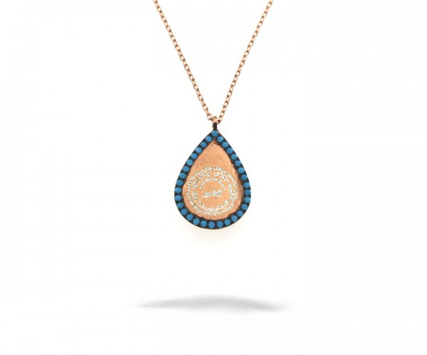 925´er Sterling Silber Halskette mit Arabischer Schrift Anhänger
